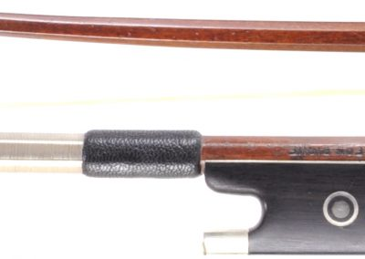 """German Pernambuco Violin bow, """"Leon Pique"""" 62 grams. Nickle/Silver"""