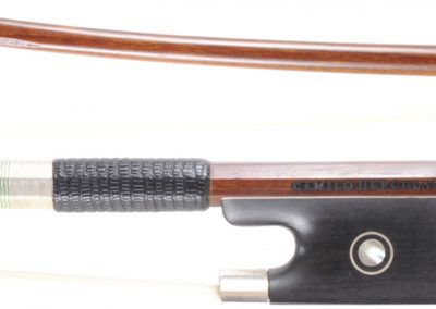 "Brazillian Pernambuco Violin bow ""Camilo Hepculano"" Silver mountings, 61 grams"